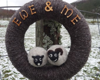 Wall Art ~ Wreath ~ Sheep ~ EWE & ME