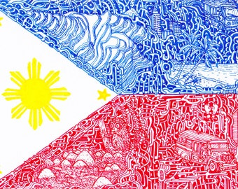 "Stickers of National Flags ""Philippines"""