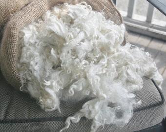 Kid mohair, washed, white, 1 pound