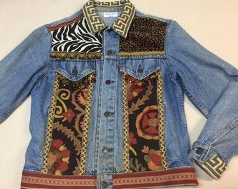 DIVA embellished denim jacket