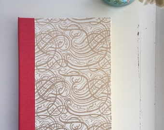 SALE Gold swirl journal, Large, Lined