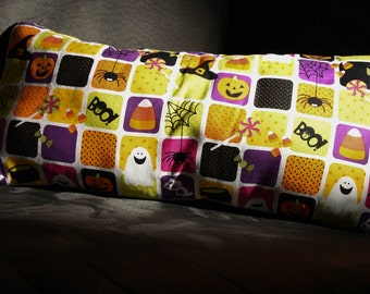 One of a Kind Cute Boo Halloween Patterned Decorative Pillow!