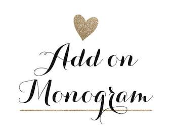 Add on Monogram/Name