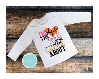 I'm the girl you've been warned about top | Personalized Basketball shirt | Monogram Basketball top