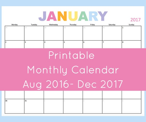 Weekly Calendar Horizontal : Calendar printable monthly by