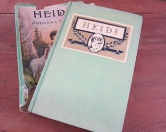 Antique 1901 Heidi by Johanna Spyri, A Burt Book, Blue Ribbon Books, vintage Heidi, antique Heidi, Hardcover Heidi, children's book