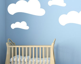 Clouds Wall Stickers wall transfers wall decals - 1 to 19 inches high Bedroom Nursery Wall Large Wall Art