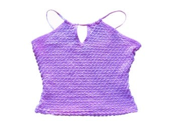 Small/XS Pink Crop Top With Ribbon Straps