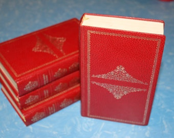 Beautiful Leather Bound Classics of Literature including Flaubert and Dumas
