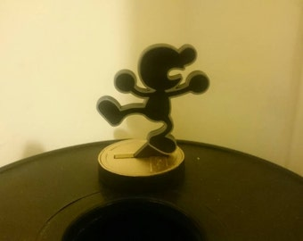 3D Printed Mr. Game & Watch Amiibo Base