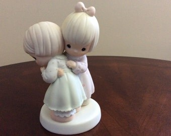 "Precious Moments "" That's What Friends Are For"" Figurine Samuel J Butcher,  Enesco."
