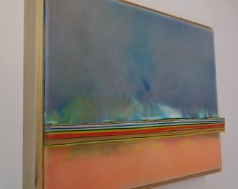 Encaustic Painting Stratum 157