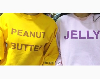 Peanut Butter and Jelly Sweatshirt Set