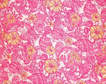 Lilly Pulitzer signature fabric Chum Bucket  18 X 18 inches