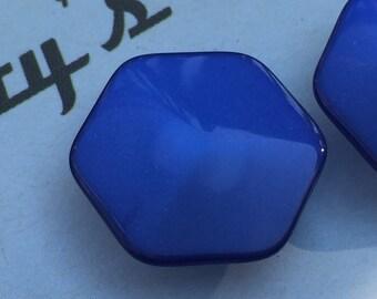 Vintage Buttons - blue plastic