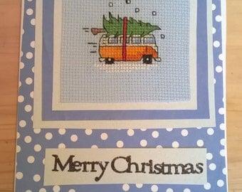 Christmas Campervan greeting card
