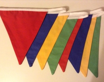 Bright coloured bunting
