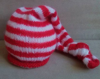 Knitted hat. Newborn hat, Mohair hat