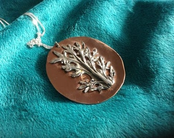 Silver Leaf Pendant, Sterling Silver, Silver Dusty Miller, One of a Kind, Nature Jewellery, Plant Pendant, Leaf Pendant, Silver Leaf Pendant