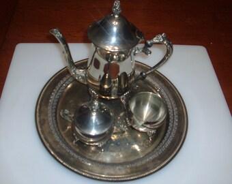 Vintage International Silver Co. tea set