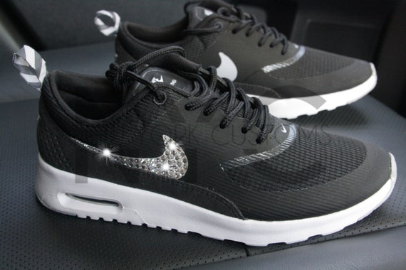 on sale 6ec4b f509a Nike Air Max Thea Running Shoes Black Blinged Out by NYCustoms 80%OFF
