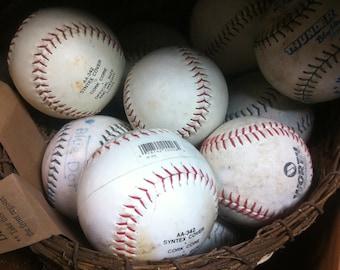 Used Softballs for crafting