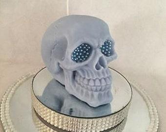 Embellished Skull Candle