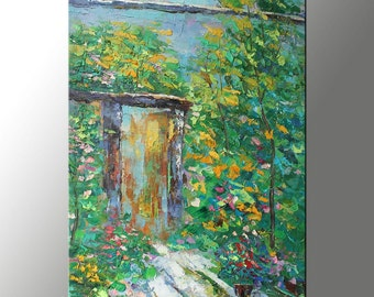 Landscape Painting, Oil Painting, Palette Knife Painting, Art on Canvas, Modern Art, Wall Decor, Spring, Landscape Oil Painting, Garden