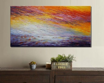 Abstract Art, Large Art, Canvas Painting, Landscape Painting, Canvas Wall Art, Large Painting, Abstract Art, Ready to Hang Oil Painting