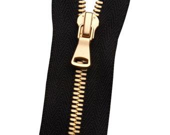 Metal No. 3 Matte Gold Zipper