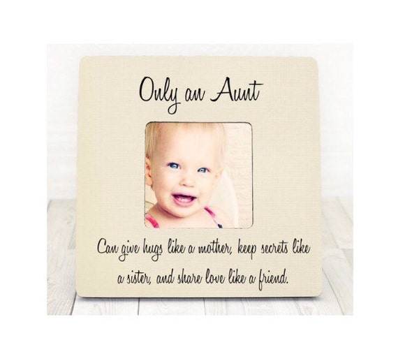 Mothers Day gift Aunt Niece Gift Personalized Picture Frame