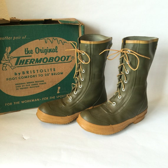 Thermoboots Waterproof Cold Weather Boots Vintage Mens Size 7