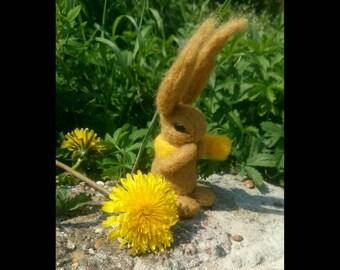 Needle felted Sunshine Rabbit