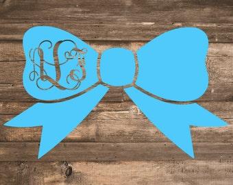 Monogram Bow Decal