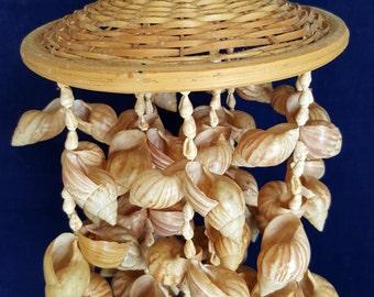 vintage seashell mobile
