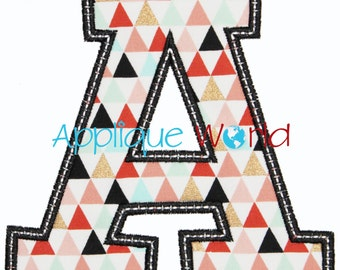 JV Alphabet Applique Embroidery -Instant Digital Download Numbers, Machine Embroidery Design, Applique Embroidery Numbers, Birthday Numbers.