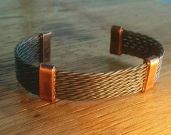 """Bracelet """"The Wolfsheim"""" Made From Steel And Copper"""