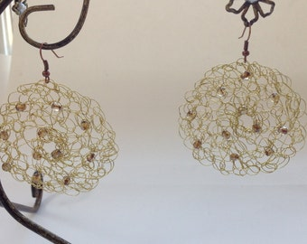 Crochet Wire Earrings - Free Shipping