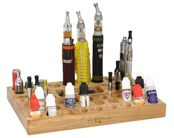 Electronic cigarette stand/holder/organizer made from wood