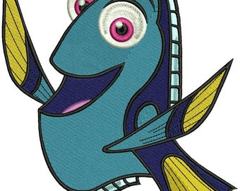 INSTANT DOWNLOAD Machine Embroidery Designs. Dory. Finding Nemo.