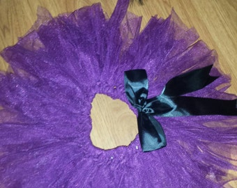 Purple infant tutu style skirt with headband