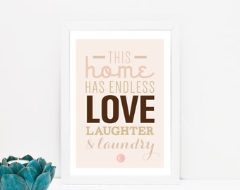 Love and laundry print