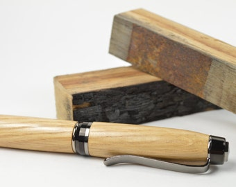 Tennessee Whiskey Barrel Wood Pen, Handmade Unique Rustic Groomsmen Gift Wood Anniversary