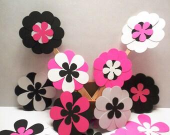 75 Scrapbook Assorted Flowers-Flowers, Die Cut Flowers, Scrapbook Flowers, Scrapbooking, Decorations, Embellishments-#DCFA-11