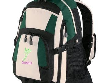 Personalized Backpack Embroidered Back Pack Custom Backpack - Sports - Dance2 - BG77