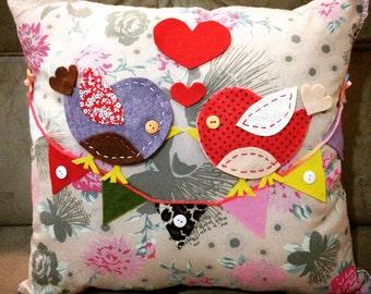 Birds in love Pillow/Sdc10874 Namoradeiros