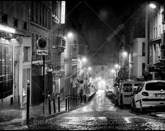 Black and White, Paris Photography, Paris France Photography , Fine Art Photography, Paris Pictures, Paris in the Rain, Montmartre