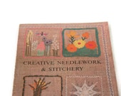 Vintage Stitchery Book, Crewel Book, Crewel Pattern Book, Creative Needlework Book, Embroidery Book