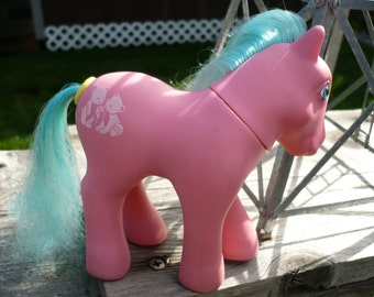 Vintage G1 My Little Pony Happy Tails Pony Tossles Works Tossels Bear Cubs 1987