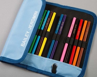 Colouring Pencils and Case Printed with Name - Lovely Gift for a New Starter